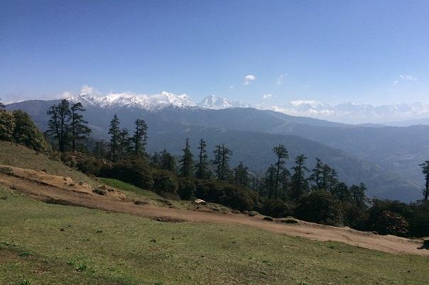 Numbur Himal range seen from Pikey Peak