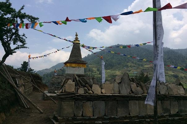 Buddhist Stupa during the Pikey Trek